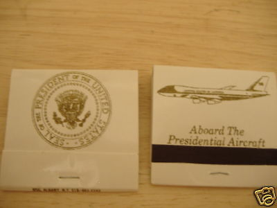 Authentic Air Force One matchbook- complete & unstruck