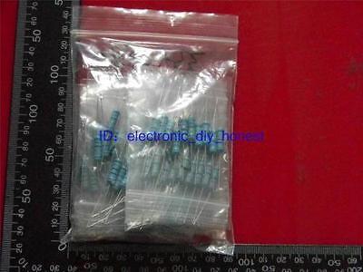 100pcs10 Value 33-470 Ohm2w2watt Metal Film Resistor Assortment Kit St604