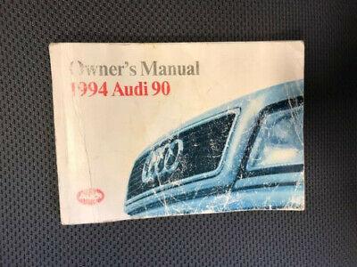 1994 Audi 90 Quattro Sedan Owner Owner's Manual User Guide Sport 2.8L V6