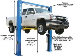 ATLAS OH-10X EXTRA WIDE / EXTRA TALL 2 Post Lift - CLENTEC London Ontario image 2