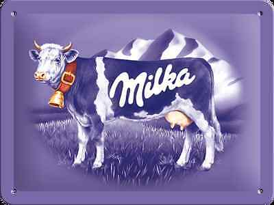 Blechschild 15 x 20 cm - Milka Kuh