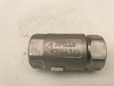 Apollo Es125-s - 400-cwp Stainless Steel Ball Cone Spring Check Valve 62-102-01