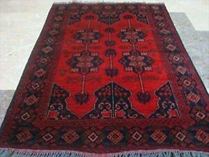 Excellent Afghan Khal Muhamadi Rectangle Area Rug Hand Knotted Wool Carpet (4.9 x 3.2)'