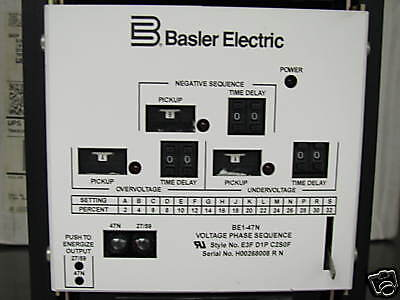 BE1-47NE3FD1PC2S0F Basler Electric VPS Relay