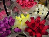 Wooden Roses look real!