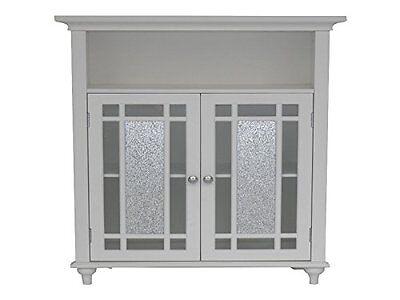 - Elegant Home Fashions Windsor Double Door Floor Cabinet White Elg-529