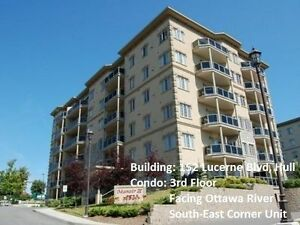 Short or Long term-Large Luxury Condo Facing Ottawa River, Hull‏