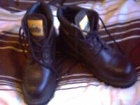 MENS DARK BROWN SAFETY BOOTS SIZE 10 Bargain only £25.00