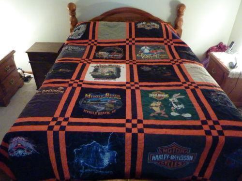 Harley Davidson Quilt Ebay