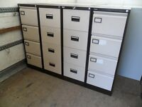 4 DRAWER FILING CABINETS COFFEE CRM - VARIOUS CONDITIONS - £40 / £45 / £49 - TELL US COND YOU WANT