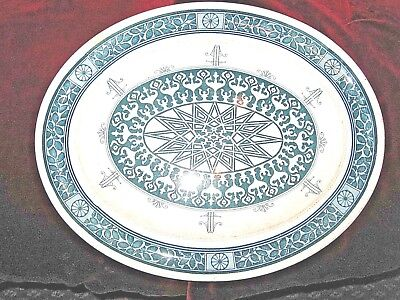 c1880 LARGE BROWN WESTHEAD MOORE AESTHETIC PLATTER / WALL PLAQUE - 15 inches