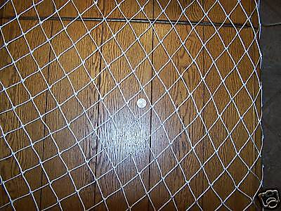 "10' x 3'  Hockey Backstop Barrier Nylon Netting 1 1/4"" #9  Test 100 Lbs , used for sale  Beaufort"