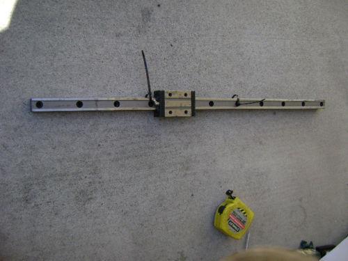 ROUNTER CNC LINEAR ACTUATOR slide rail 32 3/4 in long NSK-LCY30 bearing block