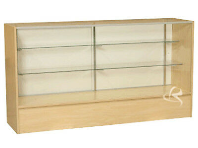 Glass Wood Maple Showcase Display Case Store Fixture Knocked Down Sc6m