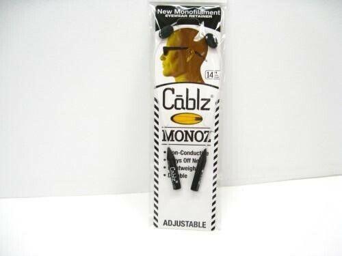 "Cablz Sunglasses Glasses Holder Monoz Adjustable Zipz White 14"" Eyewear Retainer"