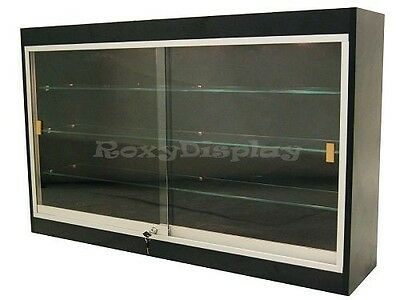 Wall Style Black Showcase Display Case Store Fixture Knocked Down Wc439b-sc
