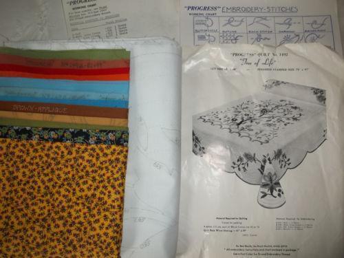 Vintage Applique Quilt Kit Ebay