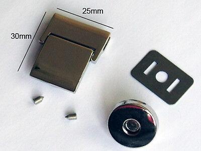 Пряжки LME25-NL 5sets 25mmx30mm NICKEL Magnetic