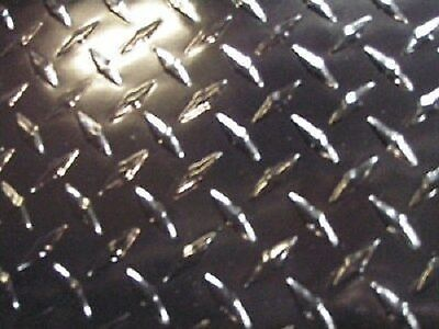 Aluminum Diamond Plate Powder Coated Black .045 X 24 X 24 Black