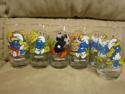 vintage smurf glasses