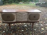 60s Vintage Retro Style Sideboard, cocktail drinks cabinet bar
