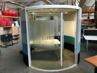 Orangebox Air 3 Acoustic Office Meeting Pod. 2 in Stock in Excellent Condition