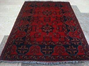 Afghan Khal Muhamadi Excellent Designed Rectangle Area Rug Wool Hand Knotted Carpet (4.9 x 3.4)'