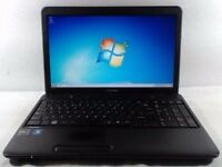"TOSHIBA C650 LAPTOP. 15.6"" Screen. windows 7. ms office. dvd drive. wireless"