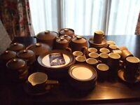 DENBY Chevron 76 piece Dinner/Coffee/Tea Set -