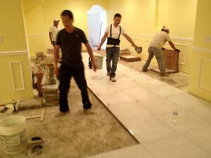 washroom, kitchen and basement renovations