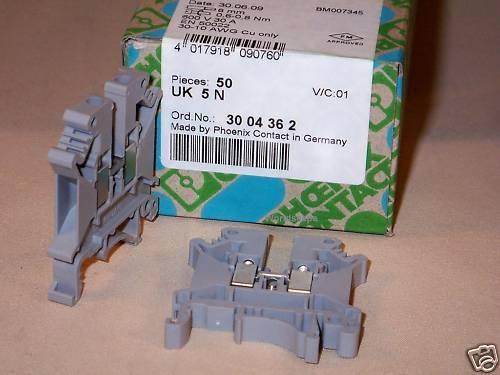 PHOENIX CONTACT 3004362 UK 5 N (UK5N) terminal block (50)