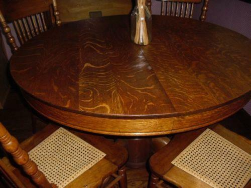 Antique Oak Pedestal Table Ebay