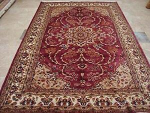 Wow Medallion Floral Oriental Hand Knotted Rectangle Rug Wool Silk Carpet (9 x 6)'