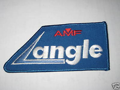 Amf Blue Angle Vintage Bowling Shirt Patch Pba Dw