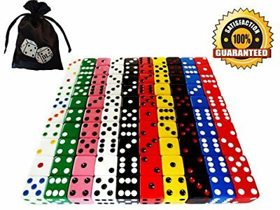 NEW Discount Learning Supplies 100 Piece 16 mm Assorted Dice with Storage Bag