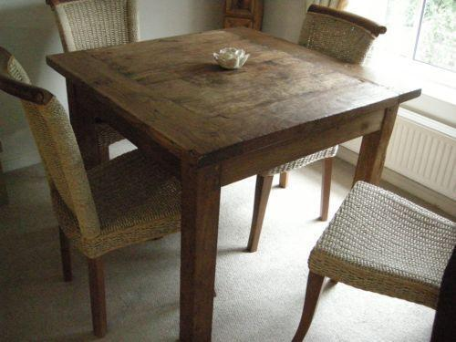 Rustic Wooden Dining Table Ebay