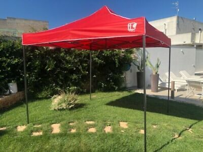 Gazebo Rojo Plegable 3X3 Confiables con Bolso Tienda Carpa Mercado Feria