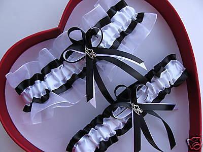 New White Black Wedding Garter Prom GetTheGoodStuff Homecoming Dance garters