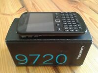 BLACKBERRY 9720. BLACK. UNLOCKED TO ANY NETWORK. SIM FREE. VERY GOOD CONDITION. £40.00 ono.