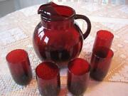 Ruby Red Anchor Hocking Tumbler