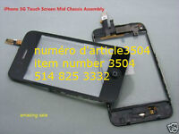 iPhone 3G Touch Screen Digitizer + LCD Frame + Home butt. PARTS