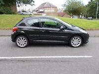 PEUGEOT 207 GT, Black, Manual, Petrol, 2008 (black) 2008