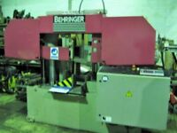 BEHRINGER MODEL 43OA AUTOMATIC BAND SAW