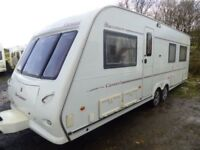 Buccaneer Caravel 21ft,4 berth,fixed end bed,twin axle,air con,immaculate.