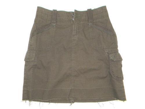 Satin Cargo Mini Skirt