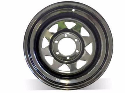 "1X16X8"" BLACK SUNRAYSIA Steel Wheel, FREE DELIVERY"