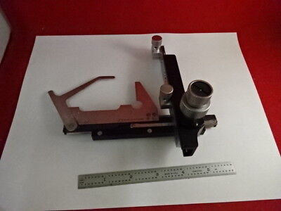 Stage Clips Micrometer Leitz Germany Hm-lux Microscope Part As Is 3-b-23