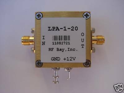 50-1000mhz 100mw 20db Rf Amplifier Lpa-1-20 New Sma