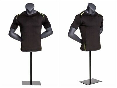 Athletic Fitness Exercise Male Mannequin Torso With Arms Crossed