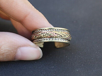 Adjustable 3-color Copper Multi-Weaving Delicately Braided Amulet Ring